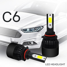 Automobile LED H1 H7 H8 H11 9005 HB3 9006 HB4 HB2 9003 H4 LED 12V 6000K Car Headlight Bulb Light Auto Lamp Styling Accessories(China)