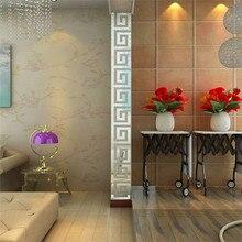 48*48mm 10pcs DIY Modern Acrylic Plastic Mirror Sticker Ar-hall Bedroom decor wall background stickers mirror supply