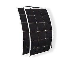 180 Вт солнечной системы комплект 90 Вт * 2 гибкие солнечные панели моно высокая эффективность фотоэлектрические ячейки модуль для 12 В батареи