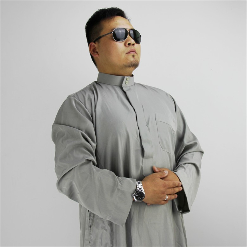 Arab Men Jubba Thobe Islamic Clothing Muslim Robes Arabic Dubai Saudi Traditional Islam 60%Cotton Eid-Mubarak Prayer Service