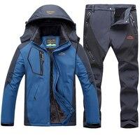 Loldeal Для мужчин куртка Высокий ветрозащитный Водонепроницаемый Технология куртка для снежной погоды и штаны куртка из двух частей брюки ко