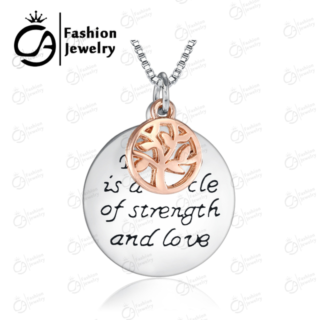 Tree Of Life Necklace Family Is A Circle Of Strength And Love