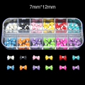 RB12  60pcs/set  12 Color Rhinestone & Decoration Bow Beauty Sticker Gel 3D Nail Accessory Material Nail Product