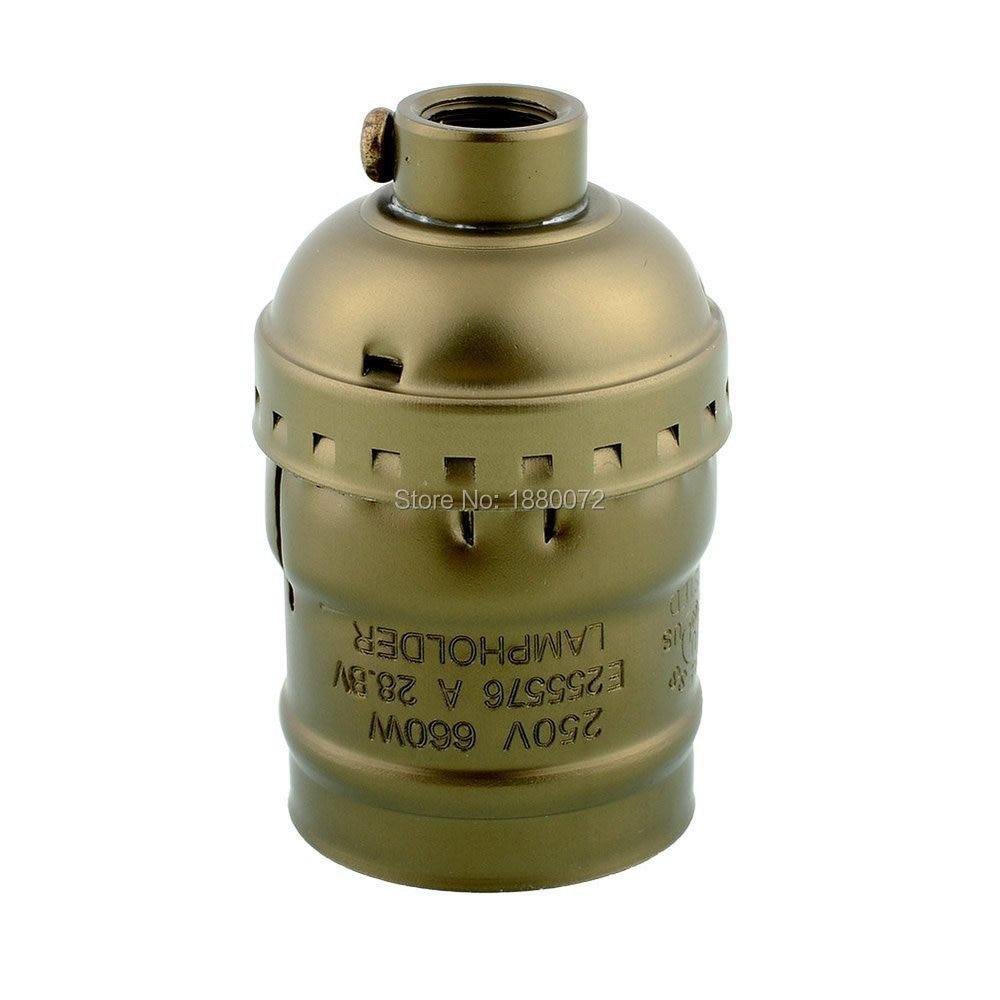 E27/E26 Lamp Socket Edison Retro Pendant Lamp Holder Vintage Edison Style Lamp Base Keyless