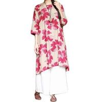 Korean Fashion Clothing Cotton Linen Plus Size Long Designer Kawaii T Shirt Dress Tea Dress Kimono