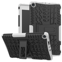 Shockproof Case for Amazon Kindle fire HD 8 2017 Kickstand Rugged PC+ TPU Dual Layer Armor Cover for New Fire HD 8 7th Genration
