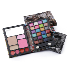 Kiss Beauty Brand Cosmetic Set 24color Eyeshadow +concealer Press Powder Blush Lip Gloss Long-wear Full Professional Makeup Kit.