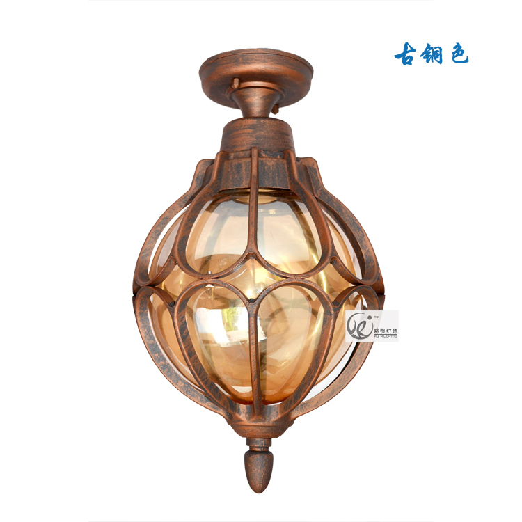European Style Waterproof Outdoor Villa Garden Decoration ceiling light Cafe Bar Coffee Shop Store Hall Club edison vintage style metal chandelier max 60w with 1 lights black finish cafe bar coffee shop store hall club