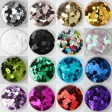 720Pcs/Pack 6mm Sequin Silver-Based Flat Round Loose Sequins Paillettes Sewing Wedding craft, Women Garments DIY Accessories