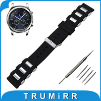 22mm Silicone Rubber Watch Band With Stainless Steel Buckle For Samsung Gear S3 Classic Frontier Wrist