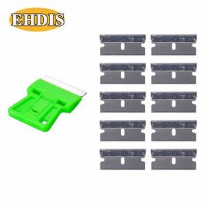 Image 3 - EHDIS – grattoir de rasoir + 10 pièces, lame de rasoir, outils de teinte de fenêtre, raclette de voiture en vinyle, dissolvant de colle autocollant de style de voiture
