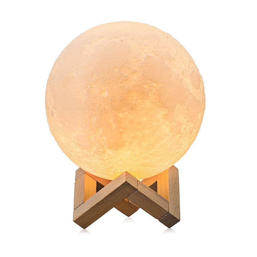 Rechargeable 3D Print Moon Lamp with LED Light For Bedroom Decoration 13