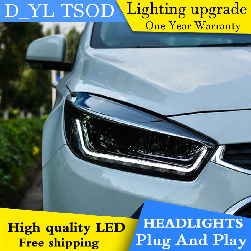 Car Styling Headlights for Cruze 2015 2016 LED Headlight for Cruze Head Lamp LED Daytime Running