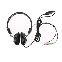 Wired Earphone Headphone with Microphone MIC Headset Gaming for PC Computer Laptop N