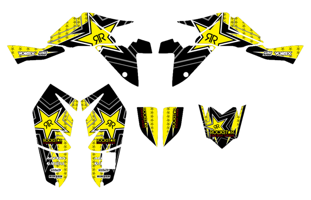 US $45 79 10% OFF|Rockstar Graphics Decals Stickers Kits For Suzuki LTZ400  LT Z400 2009 2010 2011 2012 ATV Graphic Decal Sticker-in ATV Parts &