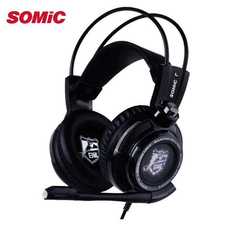 Somic G941 Game Headphone Bass Stereo Surround Sound Music Headset USB Gamer Gaming Headphones With Microphone For PC Laptop original somic p7 headphones headband vibration game headphone 7 1 sound bass hifi folding gaming headset mobile pc earphone