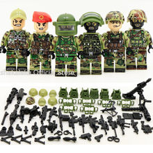 6pcs Navy Seals Team MILITARY US Army UDT WW2 Special Force SWAT Fit Lego