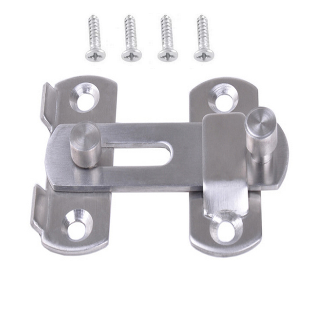 New Hasp Latch Stainless Steel Hasp Latch Lock Sliding Door Lock For Window  Cabinet Fitting Room