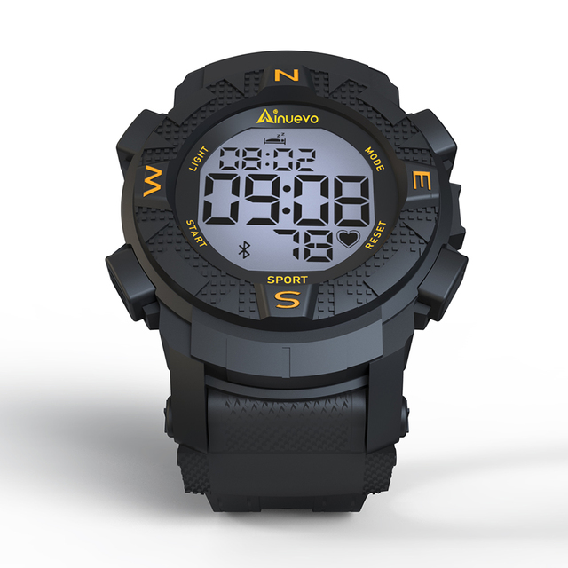 Ainuevo E1 Sport Smart Watch 2019 Man Bluetooth Swim Proof Waterproof Continuous Heart Rate Monitoring Smart Reminder