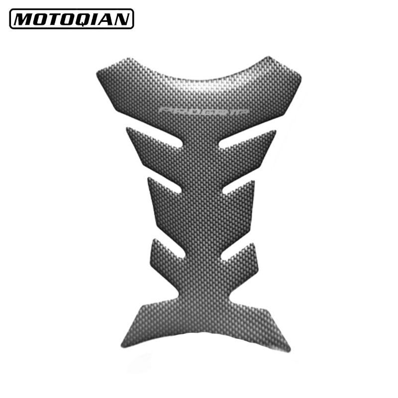 Universal 3D Carbon Fiber Motorcycle Tank Pad Protector Sticker Fish Bone Style Motorcycle Oil Tank Stickers For Kawasaki Ducati