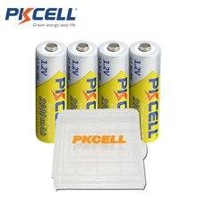 4 PKCELL Pin AA 1.2V 2300Mah 2600MAH AA NI MH Pin Sạc Aa Batteria Và 1 Chiếc Pin Cầm Ốp Lưng