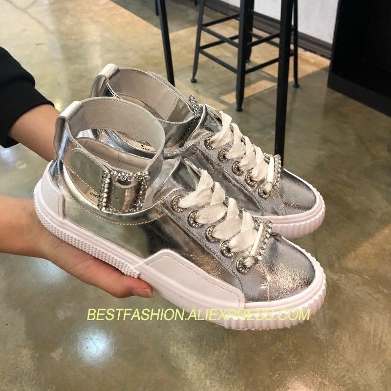 Shoes Casual Hot Lace Flats Strap Leather Summer Round T Up As Design as Cozy Ankle Pic Crystal Pic Toe Woman Chic Spring fxfqSwn4