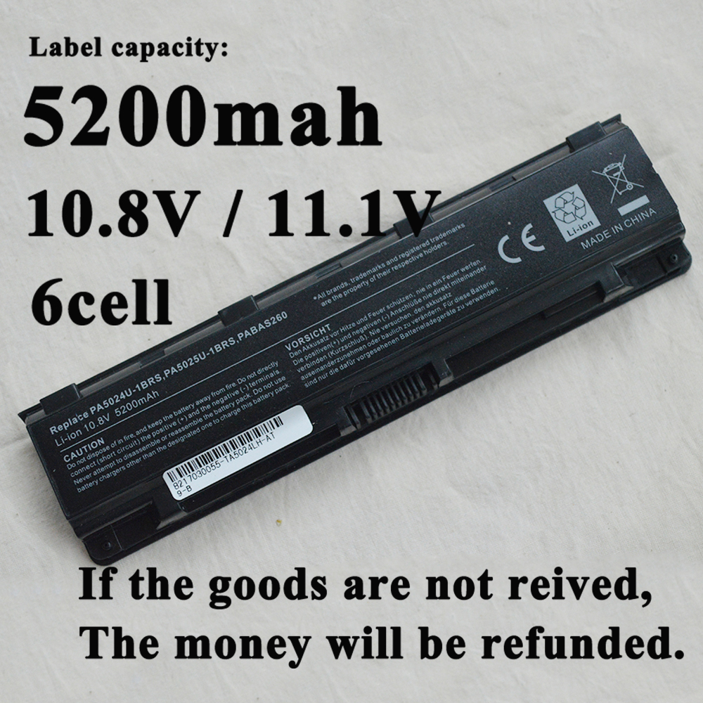 Rechargeable Laptop Battery For Toshiba Satellite C850 C850D C855D C855 PA5023U-1BRS PA5024 PA5023 PA5024U C870 C875 PABAS262