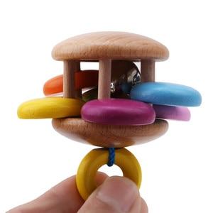 Image 4 - ไม้ของเล่นเด็กRattlesเตียงเด็กมือBell Rattleของเล่นHandbellดนตรีการศึกษาToddlers Rattles Teether