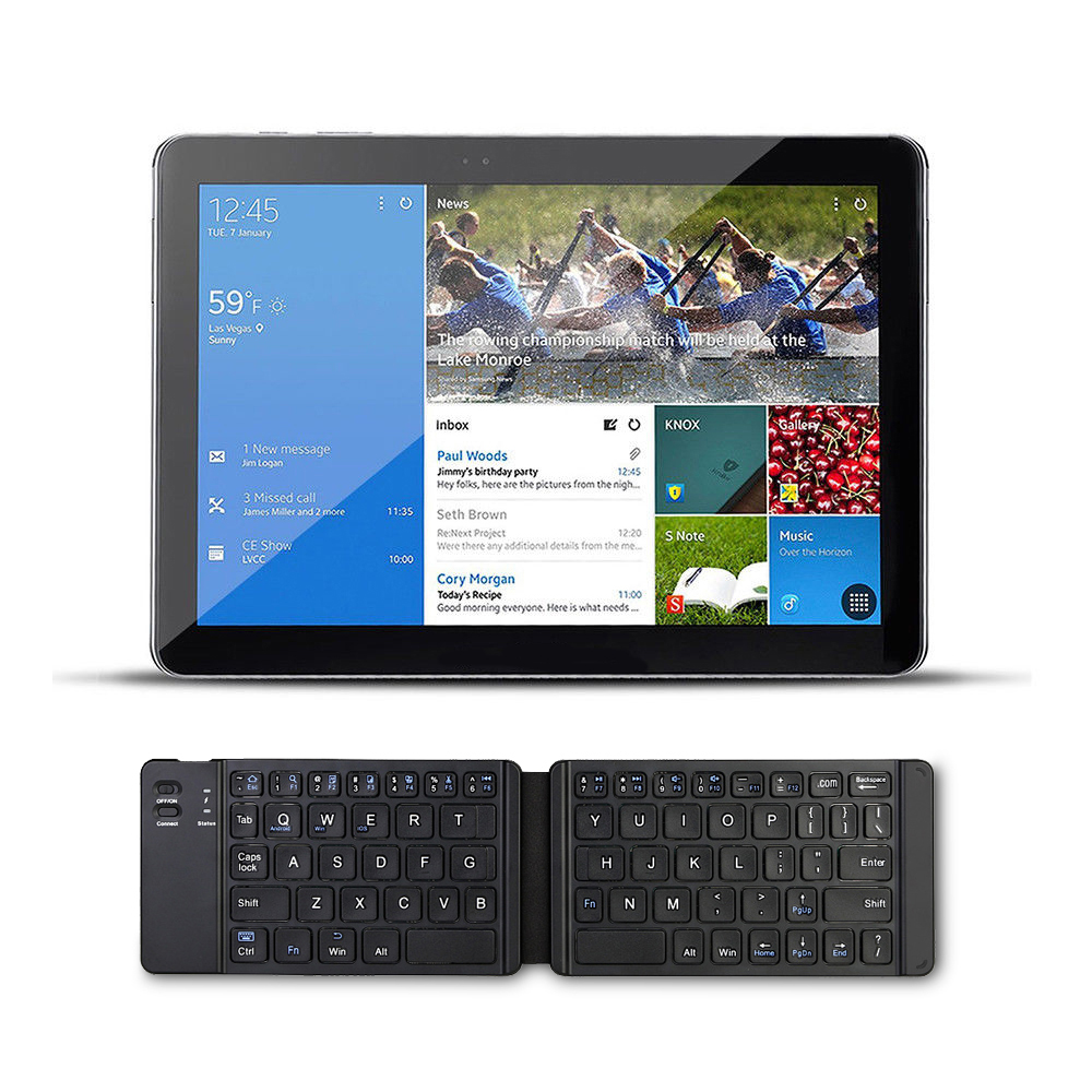 US $18 51 31% OFF Portable Folding Bluetooth Keyboard BT Wireless Foldable  Replace Touchpad Keypad for IOS/Android/Windows ipad Tablet-in Replacement