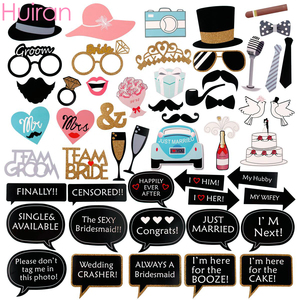Huiran Wedding Photo Booth Props Bride To Be Funny Photobooth Props Wedding Photo Decor Just Married Graduation Decor Babyshower(China)
