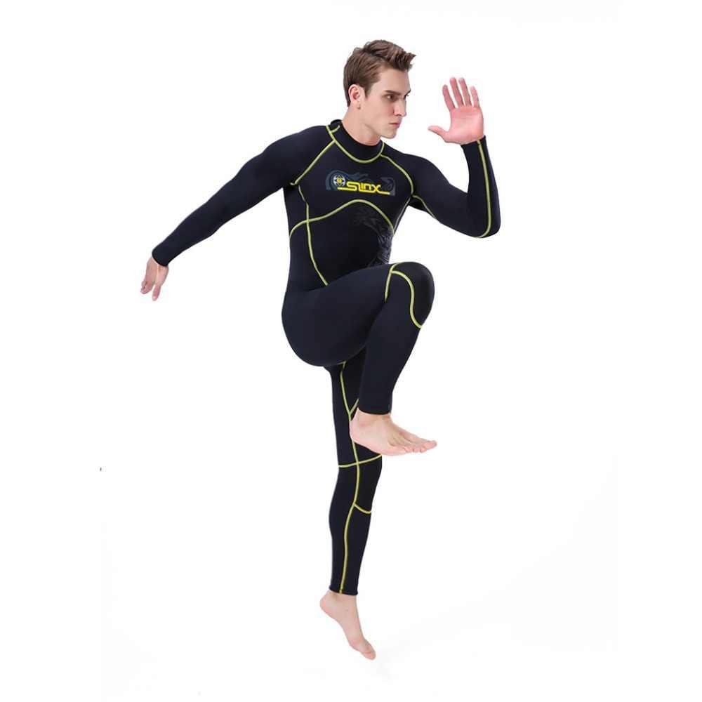 2019 одежда для плавания Мужской гидрокостюм 3 мм костюм во весь рост супер стрейч Дайвинг купальный костюм Мужчины плавание серфинг подводное плавание