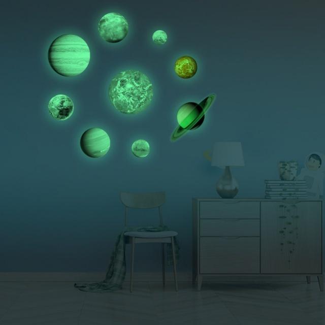Glow In The Dark Solar System Wall Sticker