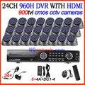 Новые специальные! 24ch Полный 960 H D1 в Реальном времени Запись с HDMI 24ch 900tvl cmos ИК день и ночного видения камеры dvr CCTV Рекордер