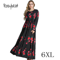 Female Plus Size Long Maxi Dress 5XL Ladies Clothing Malaysia Islamic Abaya A Line Vestidos Dress Big Size 6XL