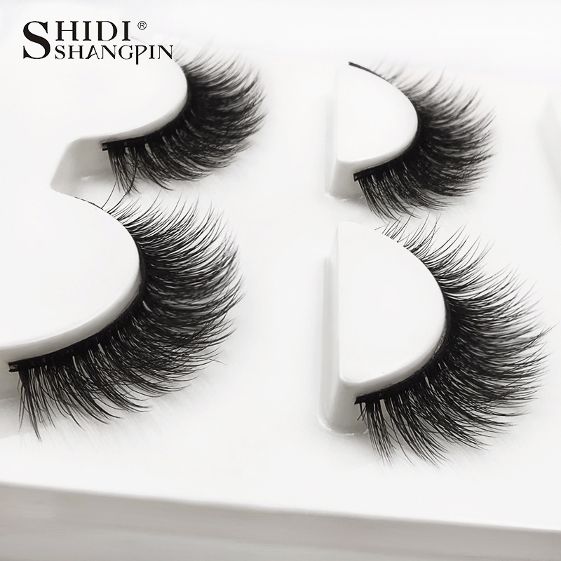 HTB1LWFiXUvrK1RjSszfq6xJNVXaA SHIDISHANGPIN 3 pairs mink eyelashes natural fake eye lashes make up handmade 3d mink lashes false lash volume eyelash extension