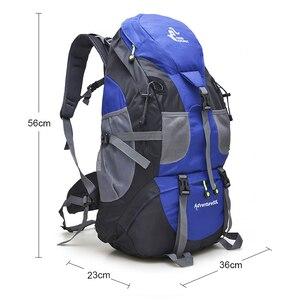 Image 2 - 무료 나이트 50L 야외 하이킹 배낭, 방수 여행 산 배낭, 트레킹 캠핑 등산 가방, 스포츠 하이킹 가방