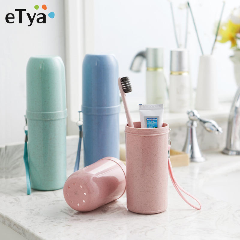 ETya Fashion Portable Toothbrush Box Travel Toothbrush Organizer High Quality Tooth Brush Protect Case Bathroom Wash Accessories