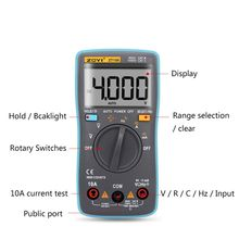 ZT100 Portable LCD Screen Digital Multimeter 4000 Counts Current Voltage Ohm Tester Auto Range Ammeter New