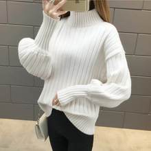 new women turtleneck sweaters hot  womens top ladies clothing white fall korean harajuku knitted sweater winter clothes
