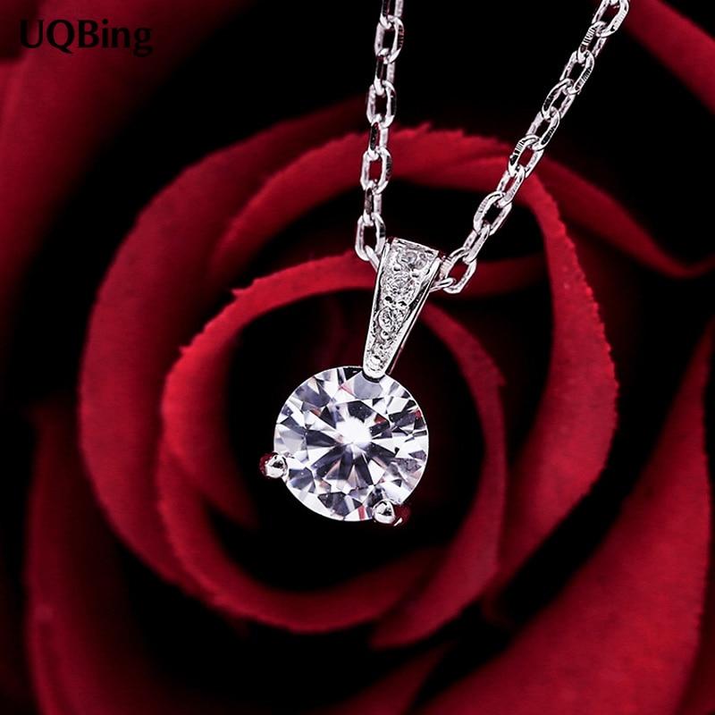 5908eb8f127f COREA DEL PLATA 925 cristal Zirconia colgante collares 925 collares y  colgantes Collar de la joyería envío libre