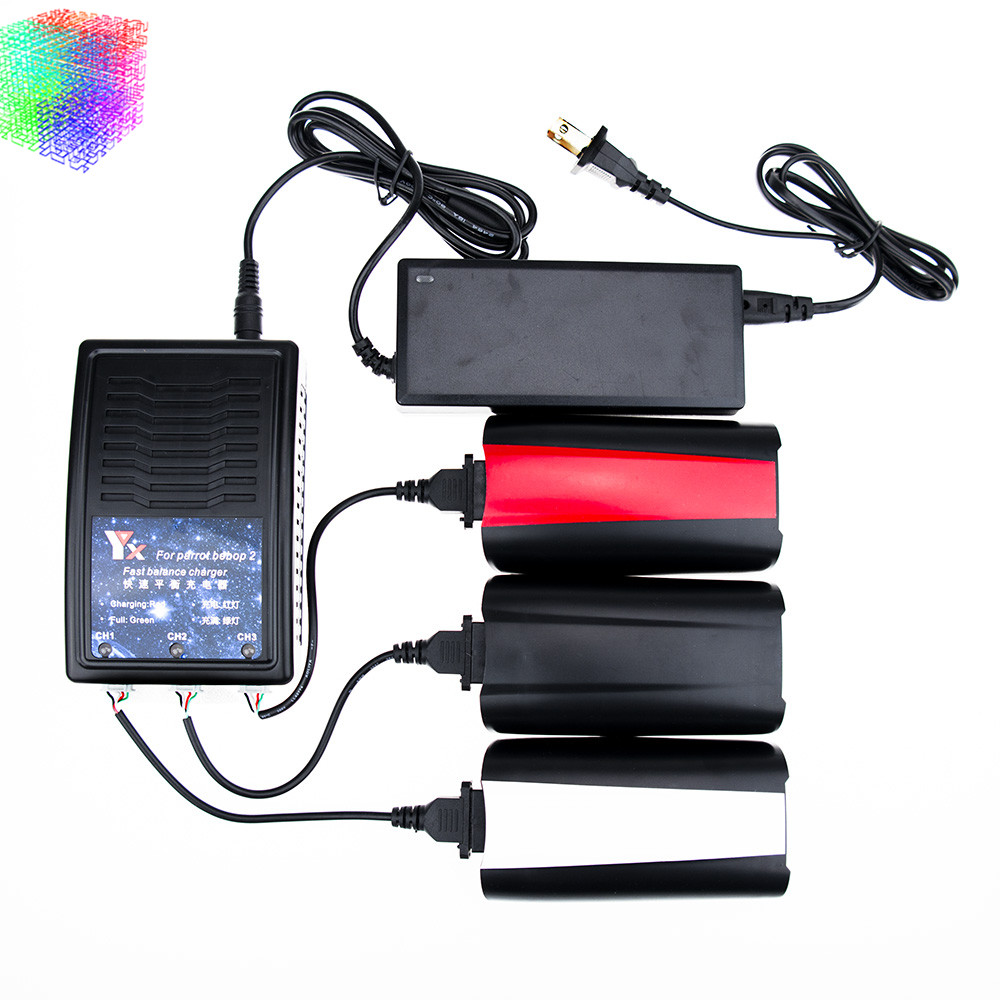 Parrot Rc Drone 3100MAH battery 3pcs and charger 11.1V 21.6A Lipo battery Bebop Drone 2 Quadcopter parts