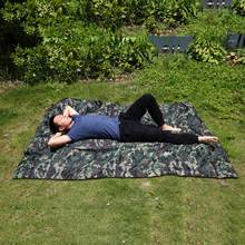 Camouflage Camping Tent Sun Shade Cloth Multi Function Outdoor Camp Picnic Mat Military Camo Netting Cover Hunting Net Cover(China)