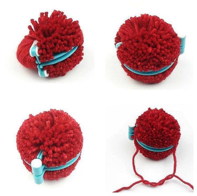 Conjuntos 1 4 Tamanhos Essencial Pom-Pom Pompom Criador Fluff Bola Weaver Needle Craft Knitting Ferramenta DIY Set- cor aleatória j2iY