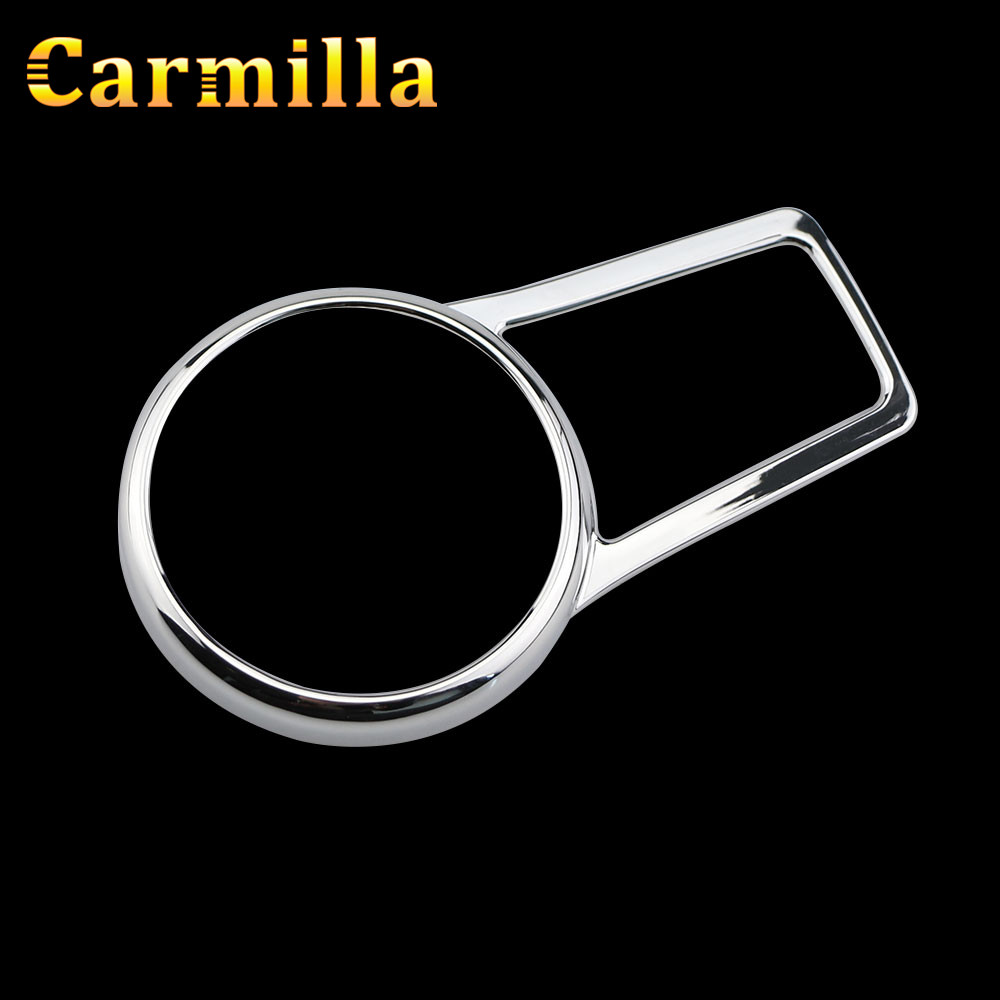 Carmilla ABS Chrome Car Interior Headlight Switch Circle Protector Cover Trim Sticker for For Jeep Compass 2017 2018 Accessories