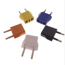 5PCS EU To US Plug Power Adapter Orange Travel Converter Wall Charger
