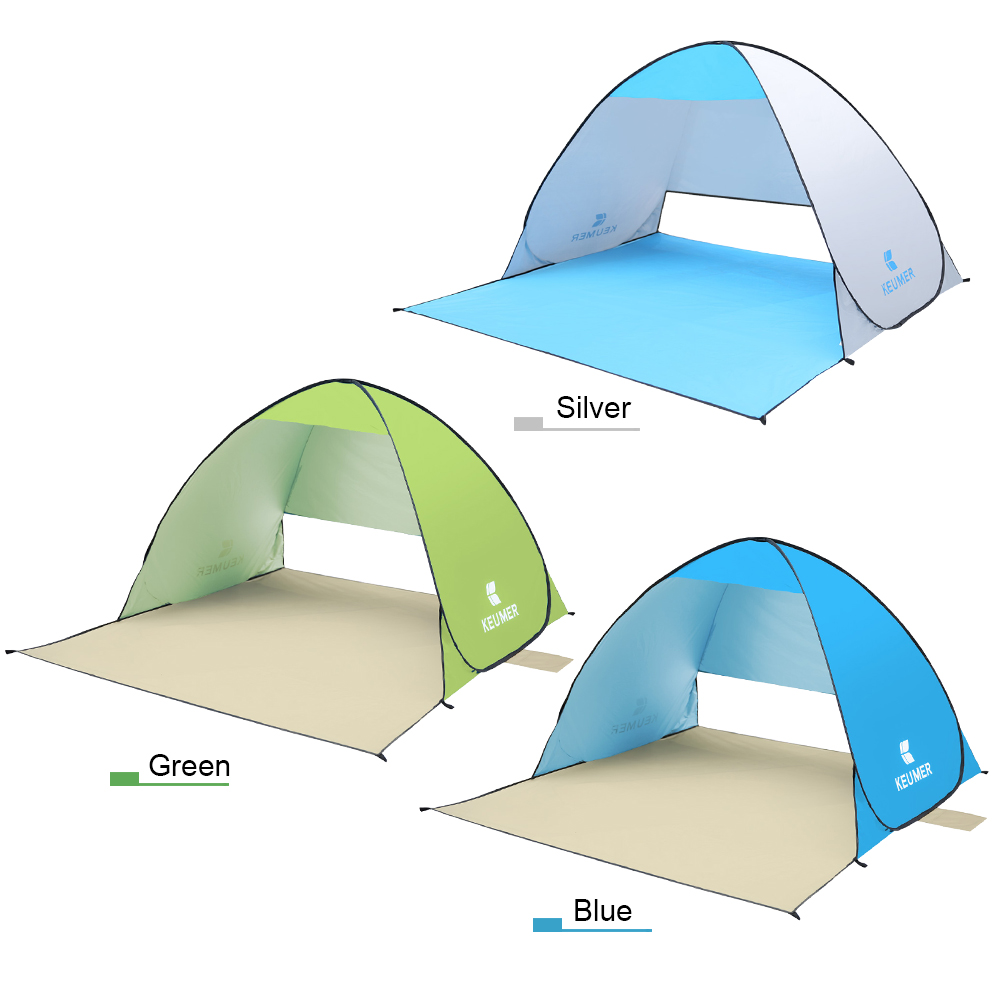 Image 4 - (120+60)*150*100cm Outdoor Automatic Instant Pop up Portable Beach Tent Anti UV Shelter Camping Fishing Hiking Picnic-in Tents from Sports & Entertainment