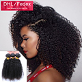7А Монгольские Странный Вьющиеся Волосы Необработанные Человеческие странный Вьющиеся Плетение Волос Монгольской Афро Кудрявый Вьющиеся Девы Волос 3 Bundle Предложения