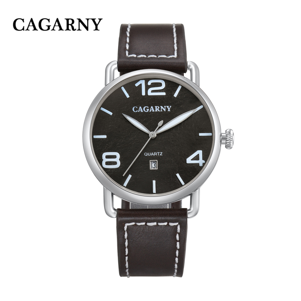 classic design high quality quartz watch men japaness movement genuine leather strap mens watches drop shipping (13)
