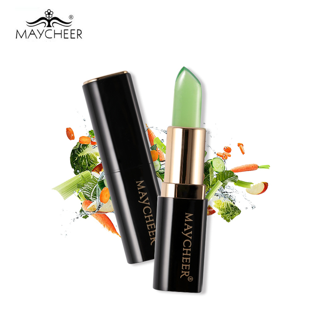 MAYCHEER Temperature Changed Moisturizing Lipstick Wild Vegetables Waterproof Jelly Lip Balm Makeup Nourish Long Lasting Lips