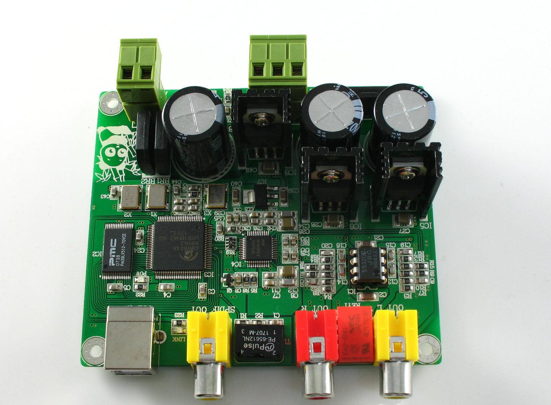 Assembeld 32BIT384K/USB DAC CM6631A + AKM4490 DAC Board 32bit\384K DAC